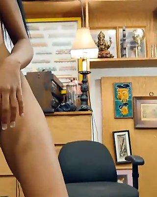 Big tits ebony screwed by nasty pawn guy in the backroom