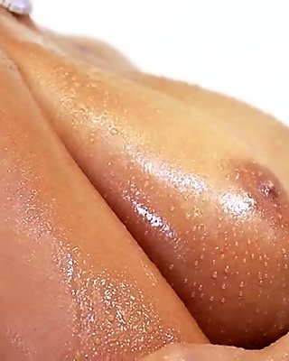 Oiled Busty Whore Gets Pounded
