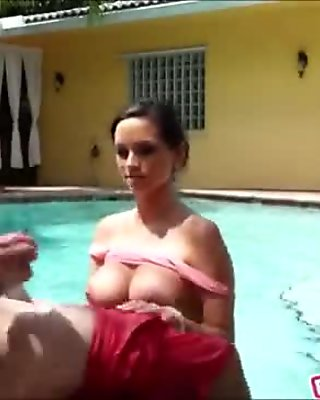 Big boobs girlfriend banged and facialed outdoors on tape