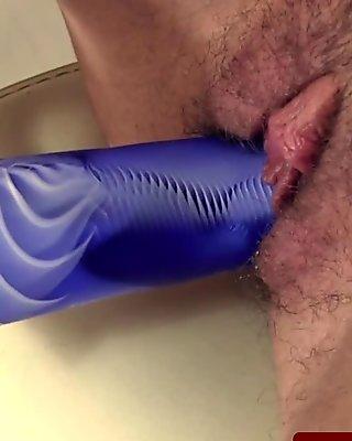 Horny Preggy Babe Fingering her Pussy