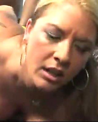 Big tits white cougar fucks a lucky black guy 10