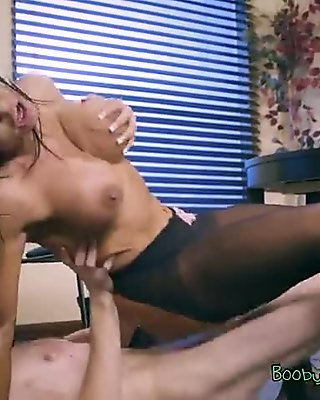 Busty Assistant Simone Garza Cant Get Enough Of Big Cock