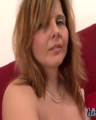 busty bitch has a nice bra to show us