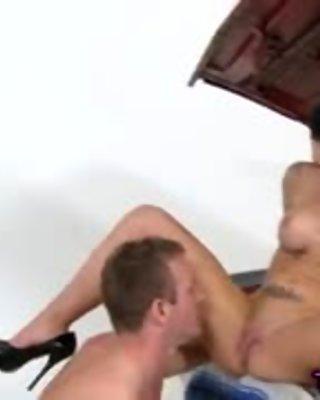 Big tits tat slut sucks