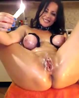 MILF Play with Candle Free Amateur Porn Video 0d Ehotcam.com