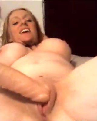 Busty blonde milf masturbation webcam