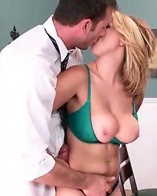 Busty schoolgirl sucking big cock at school 09