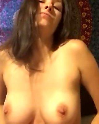 Lotioning titties