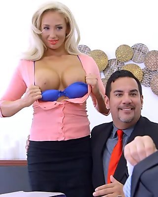 Bruce Venture fucks Olivia Fox so rough on her office desk
