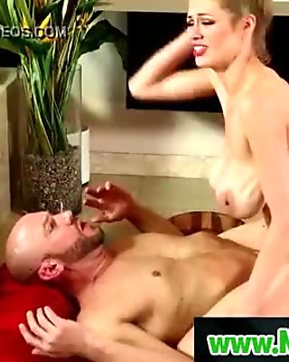 Busty masseuse play with her clients dick in nuru massage  09
