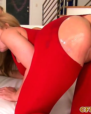 Three big-titted cougars own young stud in wild foursome