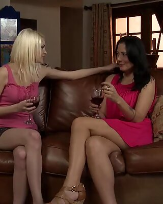 Spoiled Teen And Her Lesbian Mature Toy