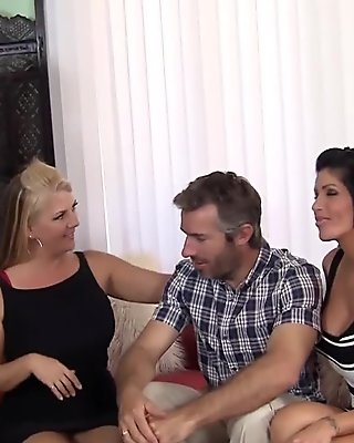 Group Sex With 3 Hot MILFs!