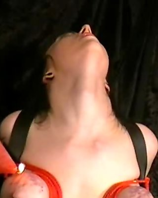 Kinky Emily Sharpes breast bondage and electro tortured