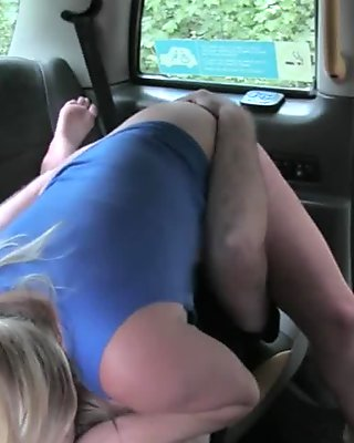 Big tits amateur passenger gets nailed by horny driver