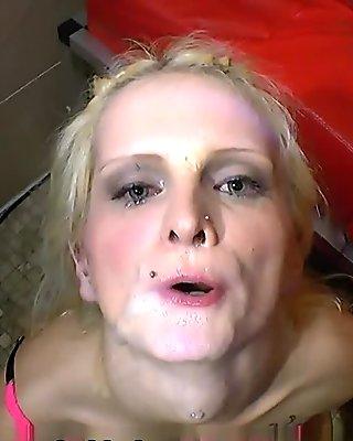 ExtremeBukkake Video: Blondes Swallow Cum - Tour