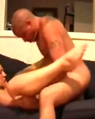 Girlfriend with big tits gets doggystyled