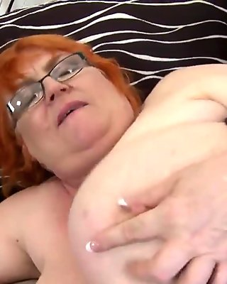 Deep inside huge busty BBW mature mom