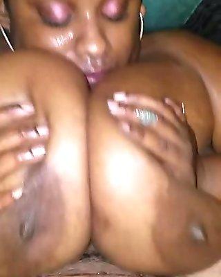 Titty fuck and facial