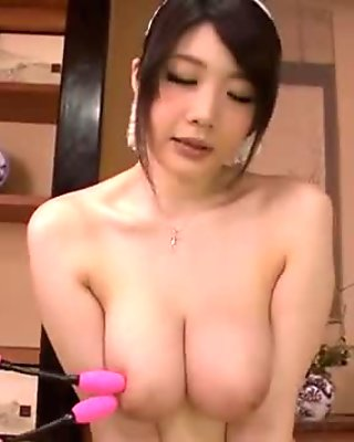 Rie Tachikawa, busty beauty, amazes in raw se