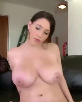 Busty booty slut sucking cock