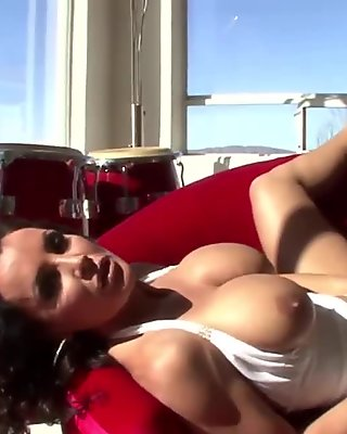 Brunette with angelic big tits film 2