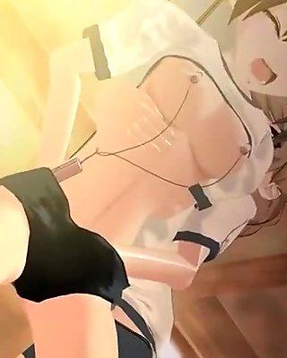 3D anime bitch gets DP