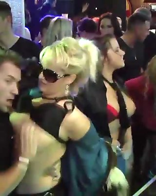 Saucy bitches get nailed at a party