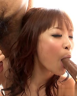 Misa Kikouden in Japanese Girl Milking Two Cocks Scene