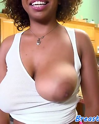 Busty babe pounded in doggystyle