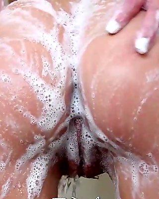 PUREMATURE Busty Shawna Lenee sucks and fucks in the shower