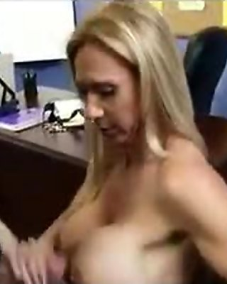 milf blonde blowjob and titjob