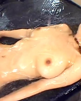 AzHotPorn.com - of Lotion Covered in Goo and